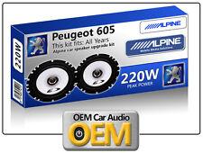 PEUGEOT 605 casse portiera anteriore KIT ALPINE ALTOPARLANTI AUTO 220W MAX