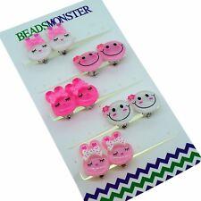 Cute Rabbit / Emoji, Clip On Earrings Gift for Teen Girls Kids Princess Daughter