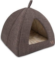 """New listing Best Pet Supplies Best Pet SuppliesPet Tent-Soft Bed for Dog and Cat Brown 19"""" x"""