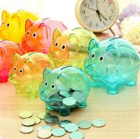 Plástico Hucha en efectivo Caja ahorro coleccionable Cerdo Juguete regalo niños