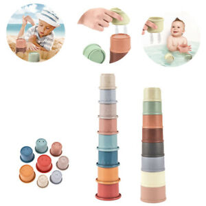 Baby Stacking Cups Pastel Modern Building Toys Set Baby Educational Toys Tools