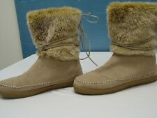 TOMS Suede Leather Nepal Women's Boots Women's Size 9.0 Tan EXCELLENT CONDITION