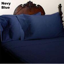 Rayures Bleu Marine Set Housse de Couette King Size 1000 Nombre de Fil 100%
