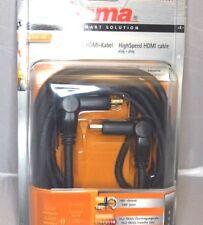 Hama High Speed Cable HDMI - 3,0m M CON ORIENTABLE Cuello - Dorado 3m 3M
