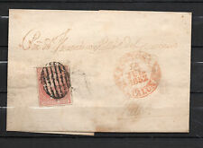 Sobre carta Año 1852 de Tortosa a Valls ( Edifil 12 ) parrilla
