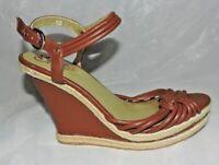 NEW Seychelles sandals 10 M Brown JUTE Platform wedge 82.00 TAG NWOB