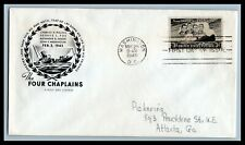 US FDC  # 956  3c Four Chaplains  Farnham addressed, 9a584