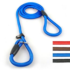 Dogs Slip Lead Small Medium Large Nylon Rope P Chock Collar Training Show Leash