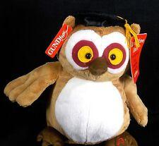 Gund Graduation Simon Owl Summertime Sings Dances Plush Toy New School College