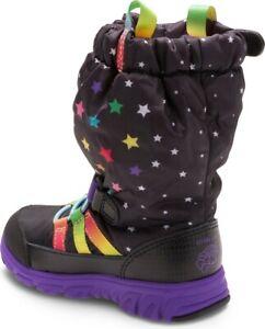 New Stride Rite Toddler Girl My Little Pony M2Play Black/Rainbow SneakerBoot 4.5