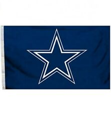 Dallas Cowboys 3x5 FT Flag Football Blue Star NFL Banner