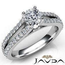1.35ctw Double Prong Split Shank Cushion Diamond Engagement Ring GIA F-VVS2 Gold