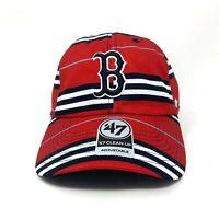 Boston Red Sox MLB Baseball Adjustable Hat Red Strapback Cap