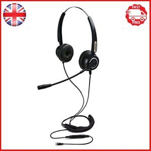 Hands-free 4-Pin RJ9 Binaural Telephone Headset , AGPtEK Universal Call Center +