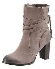 Tom Tailor Denim Womens UK 7 EU 41 Taupe High Heel Zip Up Ankle Boots (New)