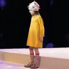 IL GUFO Kleid aus Milanojersey mit Rüschen gelb Gr.8/128 und 10/140 NEU %SALE%