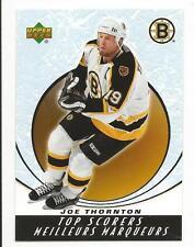 05-06 UD Upper Deck McDonalds Joe Thornton Top Scorers Insert Card #TS15 Mint