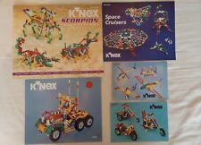K'NEX - 5 komplette Sets (+ extra Teile), original Plastikkoffer & Sammeltonne