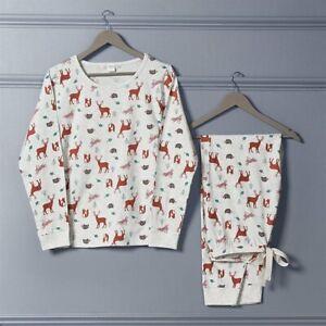Avon Woodland Animal Print  Full Length PJS/Pyjamas Size12-14 New in Pack (D)