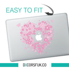 Pink Flowers macbook stickers | Laptop stickers | Macbook Decals - Clear Vinyl