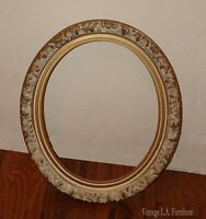 Vintage French Provincial Country Small Ornate White Picture Frame