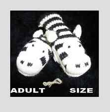 deLux ZEBRA MITTENS knit ADULT puppet FLC LINED animal costume mens womens human