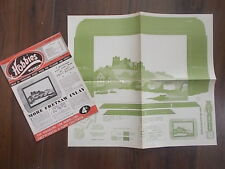 HOBBIES WEEKLY MAGAZINE OCTOBER 28th 1953 FREE DESIGN INLAID PICTURE