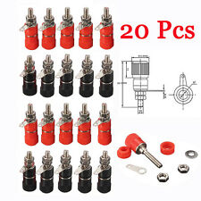 20 PCS 4mm Speaker Terminal socket Binding Post Nut Banana plug jack connector