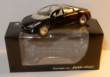 NOREV 3 INCHES 1/64 PEUGEOT CONCEPT CAR 908 RC V12 NOIRE 2006 IN BOX