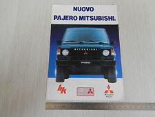 DEPLIANT BROCHURE ORIGINALE FUORISTRADA MITSUBISHI PAJERO 4WD 4X4 1988