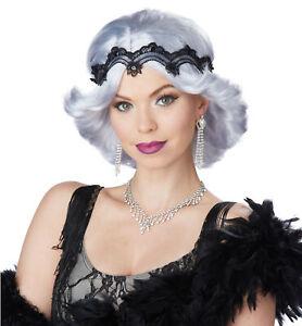 20s Glitz And Glamour Flapper Gatsby Grey Womens Costume Wig & Headband