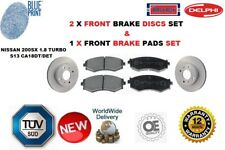 FOR NISSAN 200SX 1.8 TURBO S13 CA18DT FRONT BRAKE DISC AND BRAKE PADS SET