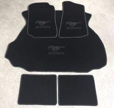 Autoteppich Fußmatten Kofferraum Set für Ford Mustang Coupe schwarz 94-04 5tlg.