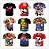 New cartoon Mario 3D Print Mens Womens Casual Short Sleeve T-Shirt Tee Tops