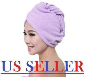 Turbie Twist 100% Microfiber Hair Towel Wrap Drying Cap Hat Loop Button 6 Colors