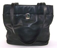 Lauren By Ralph Lauren Womens Purse Black Leather Shoulder Bag 2d940eb08f84f