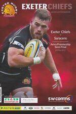 EXETER CHIEFS v SARACENS AVIVA PREMIERSHIP SEMI FINAL RUGBY PROGRAMME 2017