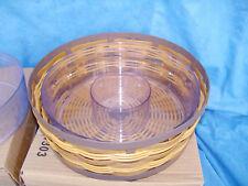 Caramel On the Veranda Medium Bowl Basket & Protector Longaberger Indoor Outdoor