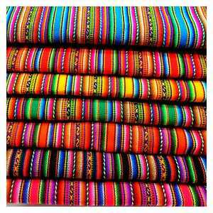 Stripy Design Peruvian Textiles