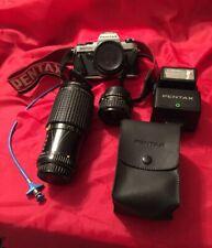 Pentax Super Program w/AF280T Flash, Plus Multiple Lenses, See Description.