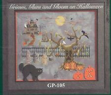 10% Off Glendon Place Counted X-stitch Chart-Grim, Glum and Gloom on Halloween