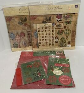 K & Company Anna Griffin 12x12 Scrapbook Paper Kits Christmas Stickers Lot