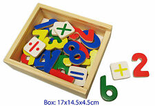 NEW Wooden Magnetic Numbers - 37 piece