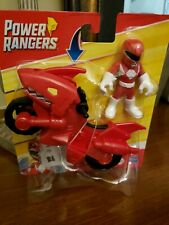 Playskool Heroes Power Rangers Red Ranger With Shark Cycle Free Shipping