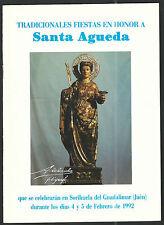 Revista de Santa Agueda andachtsbild santino holy card santini