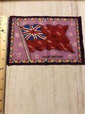 Great Britain Felt Flag Tobacco Cigarette Early 1900s 8.25 X 5.5 F23