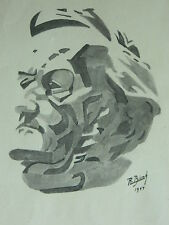 Dessin original Lavis en noir signé R. BIENK ? daté 1944