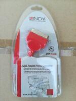 LINDY Adattatore Covertitore da USB a Parallelo lunghezza 2 m (42813)