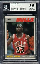 1987 FLEER #59 MICHAEL JORDAN 2ND YR BASKETBALL CARD HOF BULLS TWO 9'S! BGS 8.5