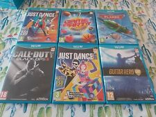 LOTE N 3 NINTENDO WII U WIIU WIU JUST DAMCE CALL OF DUTY GUITAR HERO GAME PARTY